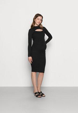 ROLL NECK CUT OUT DRESS MATERNITY  - Jumper dress - black