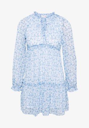 TIERRED SMOCK DRESS - Day dress - blue