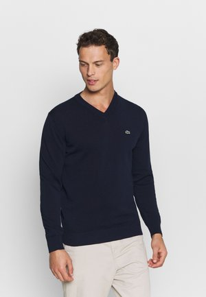 Strikkegenser - navy blue