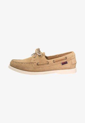 PORTLAND  - Boat shoes - beige camel