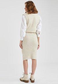 DeFacto - Pencil skirt - beige - 2