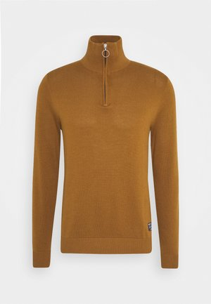 JORELI HIGH NECK ZIP - Jumper - rubber
