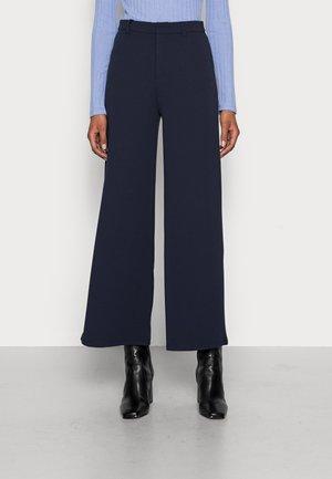 Flared Leg Business Trousers - Bukse - dark blue