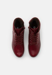 Gabor Comfort - Lace-up ankle boots - dark red - 5