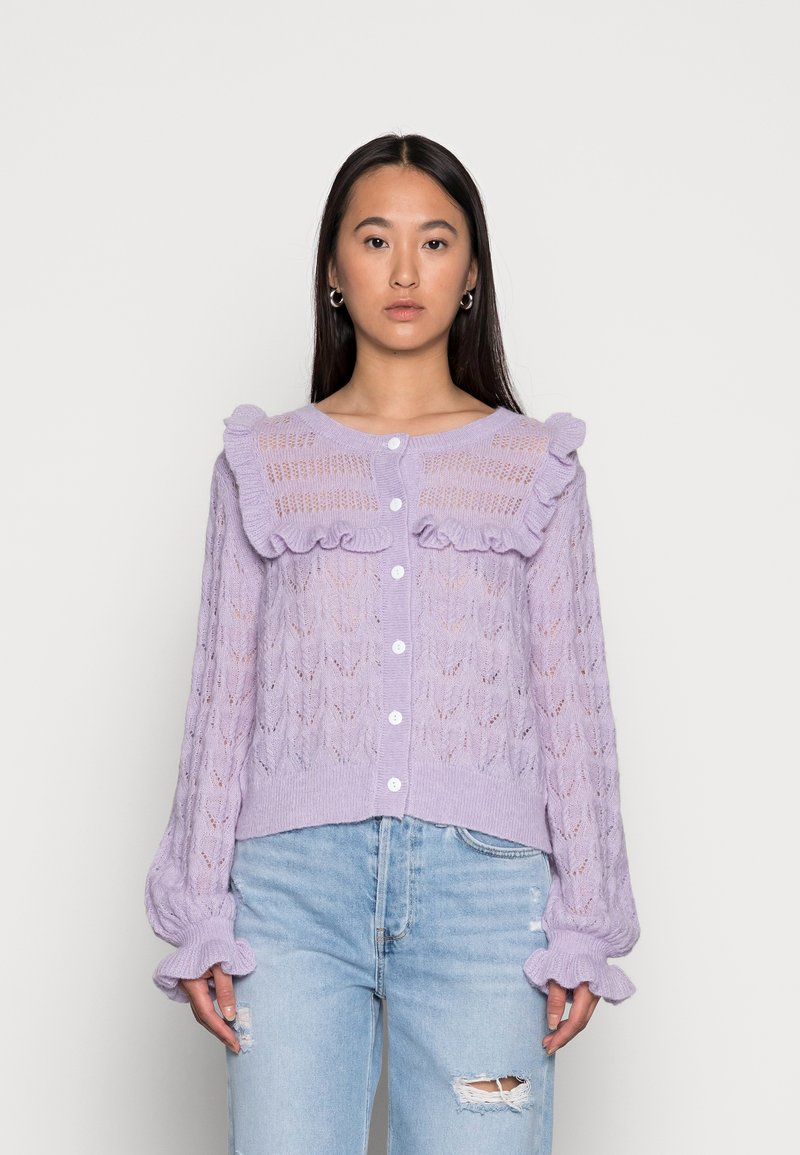 EDITED - NATHALIE CARDIGAN - Chaqueta de punto - pastel lilac