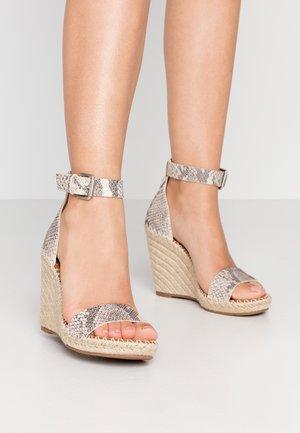 NOOR - Sandalen met hoge hak - stone