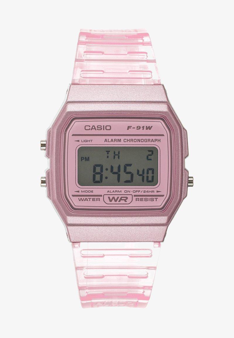 Casio - F-91WS-4EF - Digitální hodinky - rosa