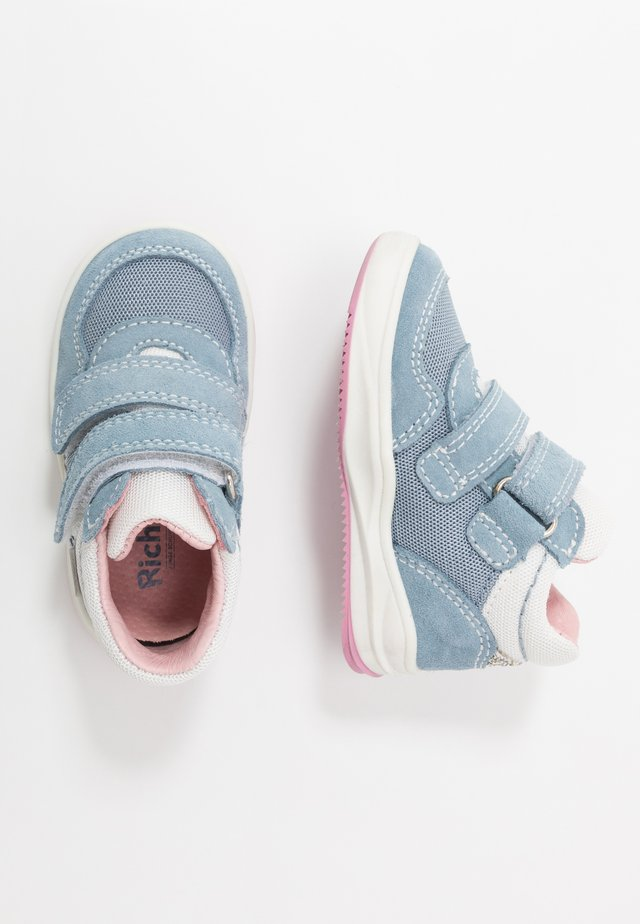 Baby shoes - sky/white/silver
