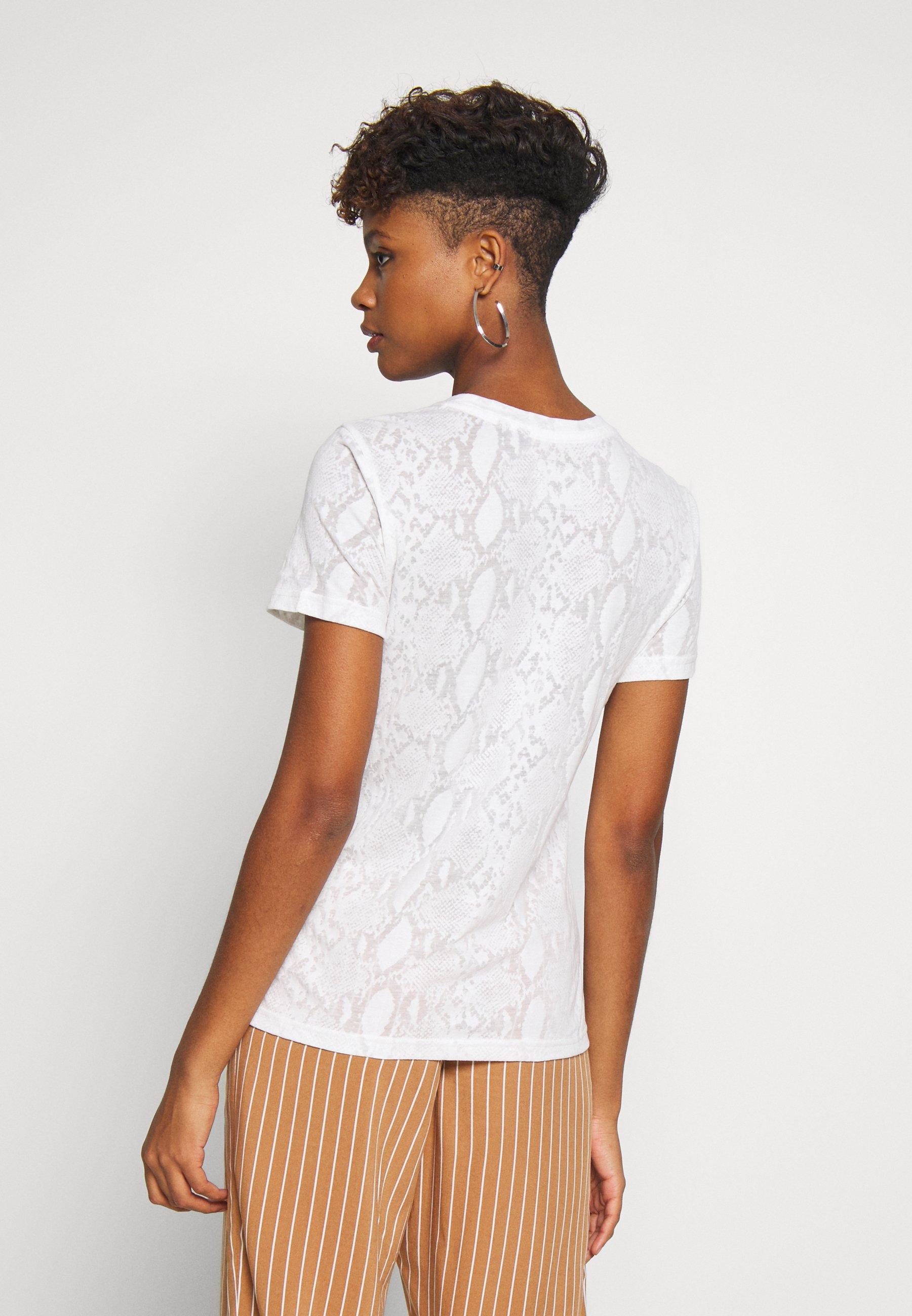 Superdry SNAKE BURNOUT ENTRY TEE - T-shirt imprimé - ecru - Tops & T-shirts Femme LSj58