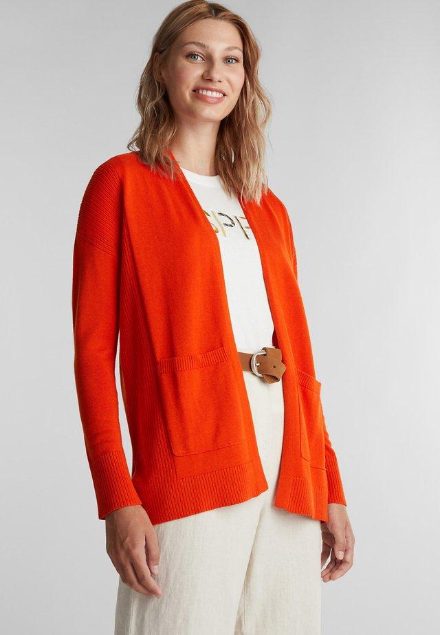 Cardigan - rust orange