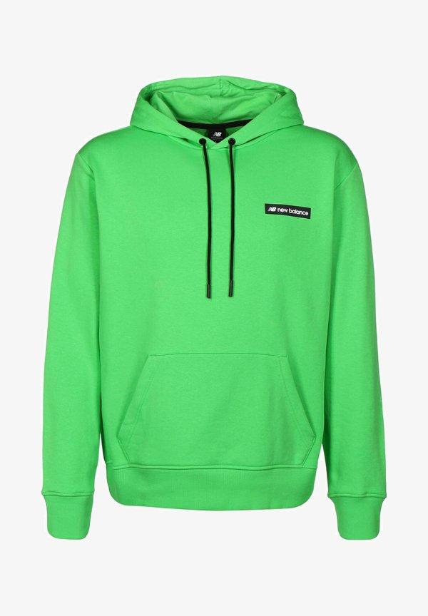 New Balance SPORT STYLE OPTIKS HOODIE - Bluza z kapturem - acidgrn/zielony neon Odzież Męska GGNI