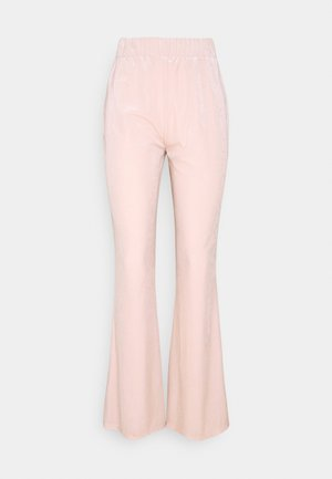 VIVELVETTA FLARED PANT - Tracksuit bottoms - peach blush