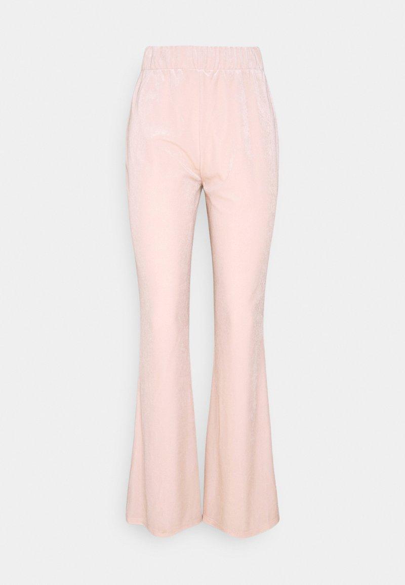Vila - VIVELVETTA FLARED PANT - Tracksuit bottoms - peach blush