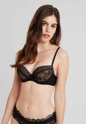 PLISSEE BRA - Push-up bra - black