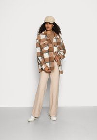 Rich & Royal - JACKET CHECKED - Light jacket - chocolate brown - 1