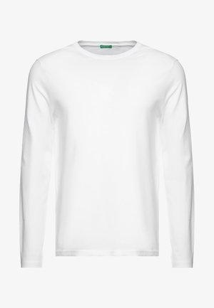BASIC CREW NECK - Long sleeved top - white