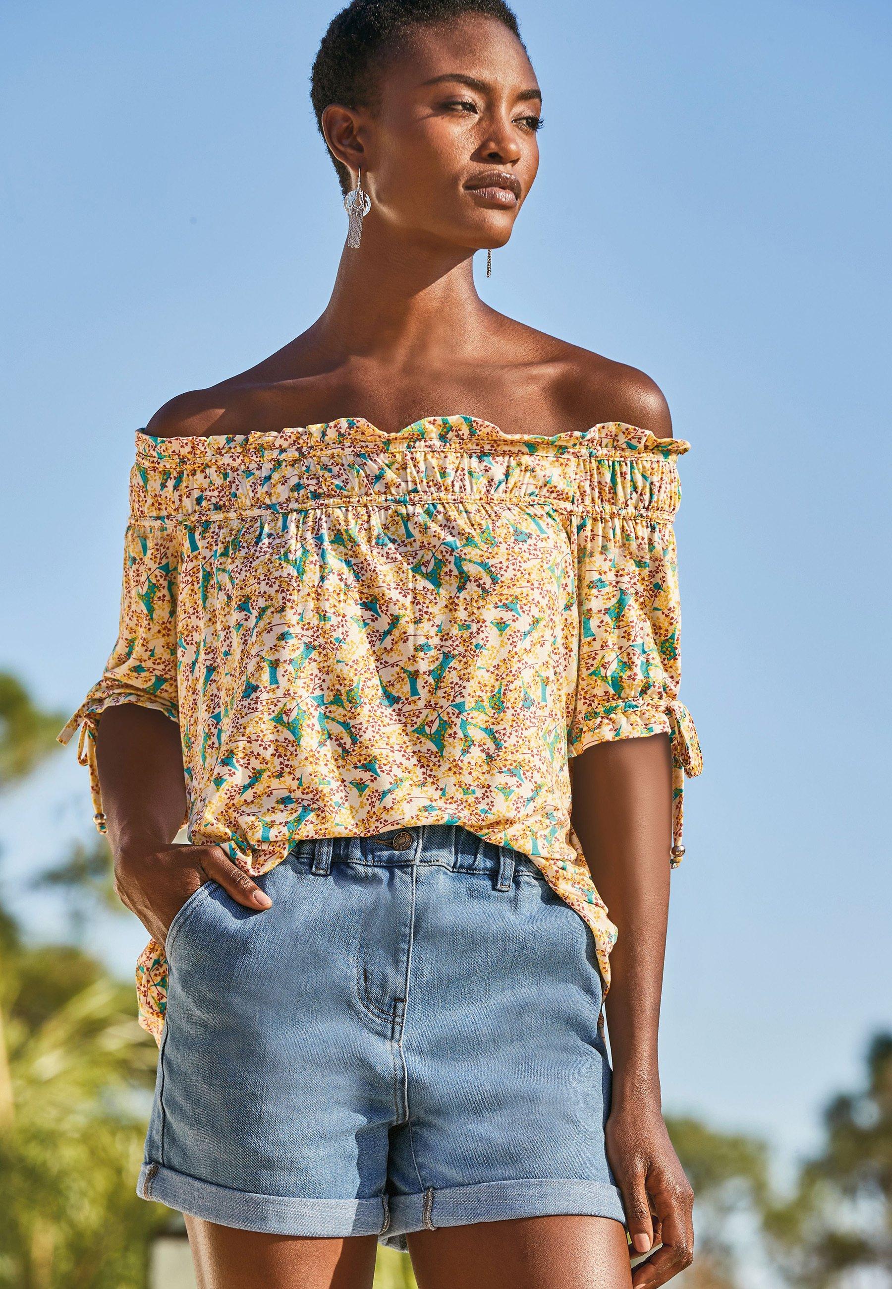 Femme RUCHED - T-shirt imprimé