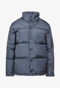 Topman - STRIPE PUFFER - Winter jacket - black - 4