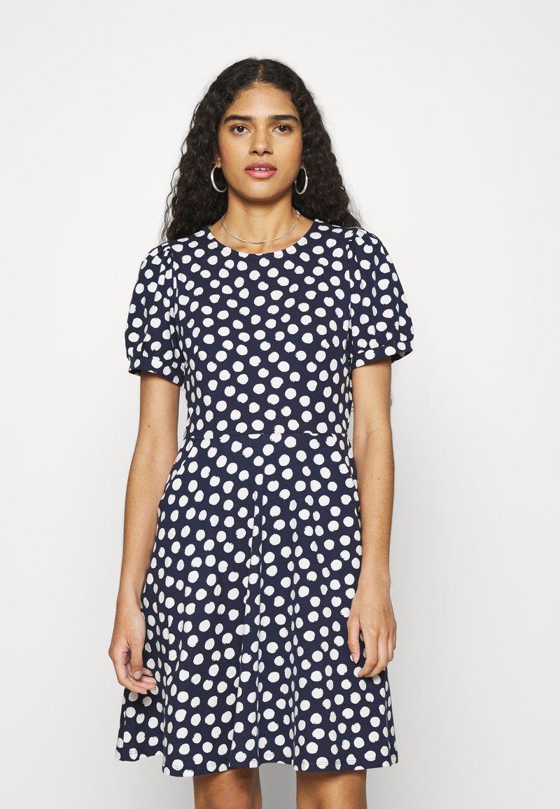 Dorothy Perkins - SPOT TSHIRT DRESS - Sukienka z dżerseju - navy