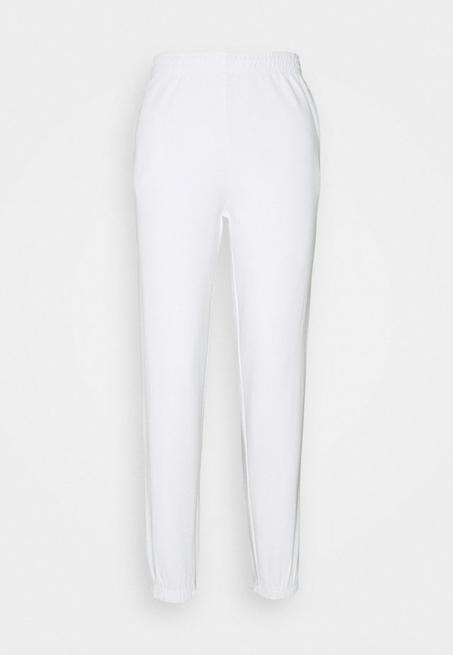 CUFFED JOGGER - Tracksuit bottoms - white