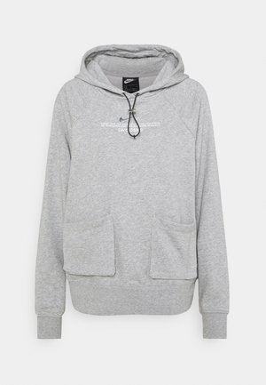 HOODIE - Felpa - dark grey heather/white