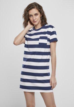 Jersey dress - darkblue/white