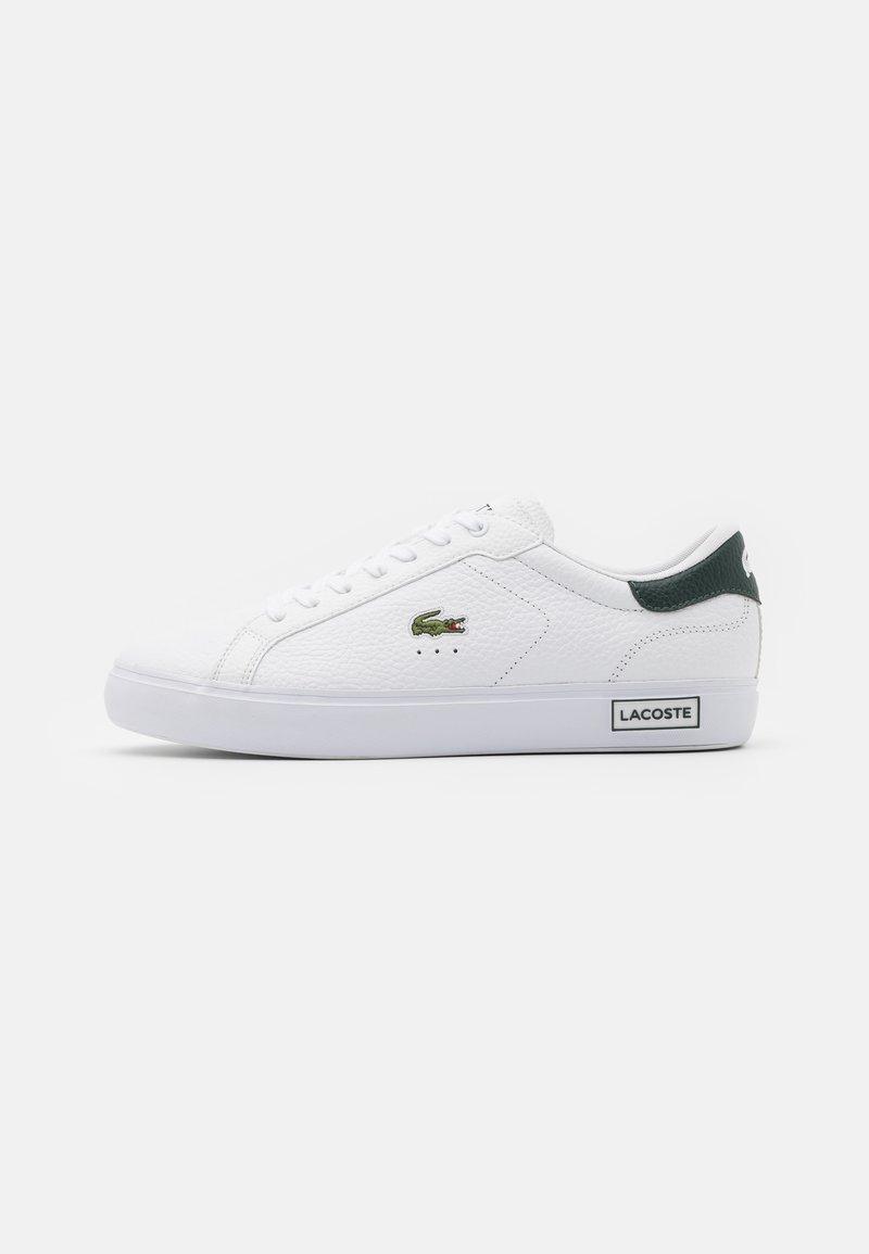 Lacoste - POWERCOURT - Sneakers basse - white/dark green