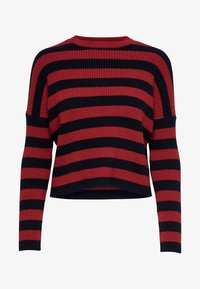 ONLY - Jumper - berry/black - 4