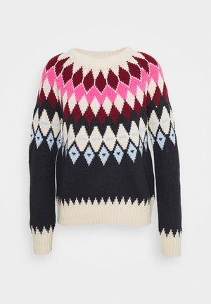 ONLARIELLE - Jersey de punto - ecru/rhubarb/pink/blue