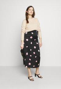 Glamorous Bloom - CARE SLIP SKIRT - Maxi skirt - black - 1