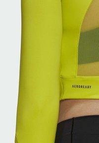 adidas Performance - Pitkähihainen paita - yellow - 5
