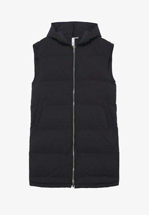 WATER-REPELLENT QUILTED GILET - Waistcoat - black