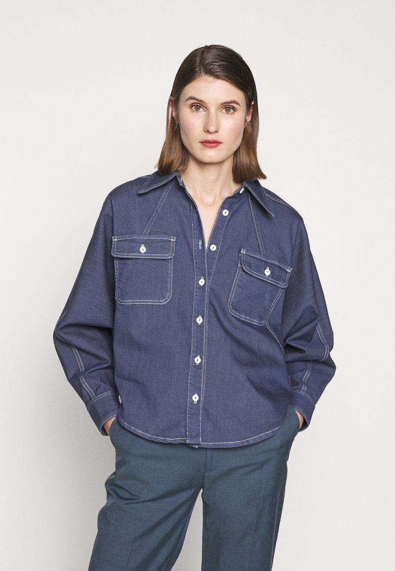 BLANCHE - ALINA EXCLUSIVE - Button-down blouse - mid blue