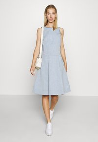 G-Star - FIT AND FLARE DRESS S\LESS - Denim dress - rinsed - 1