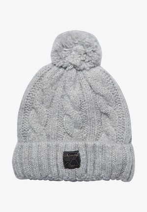 TWEED CABLE - Beanie - light grey marl