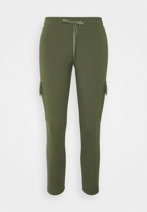 NMSEJLA - Tracksuit bottoms - ivy green
