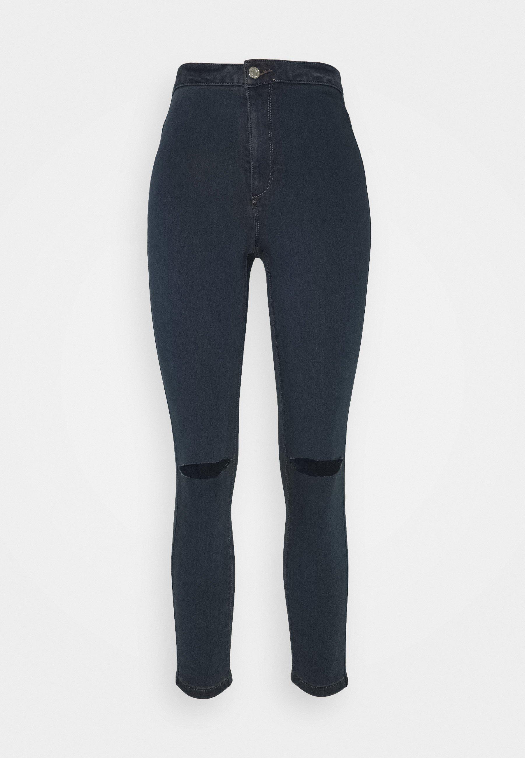 Women VICE HIGHWAISTED SLASH KNEE - Jeans Skinny Fit