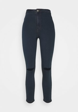 VICE HIGHWAISTED SLASH KNEE - Jeans Skinny - indigo