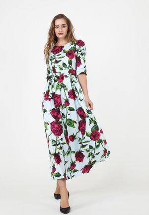 ANGE - Maxi dress - hellblau/ himbeere
