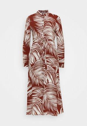 ONLAUGUSTINA SHIRT DRESS - Shirt dress - burnt henna