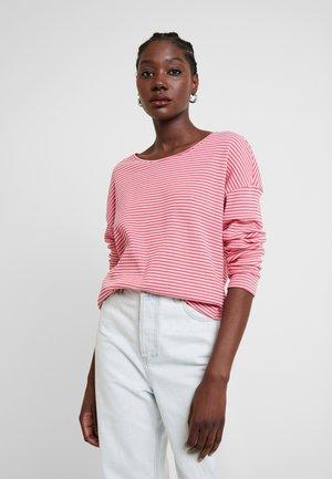 Bluzka z długim rękawem - pink stripe structure