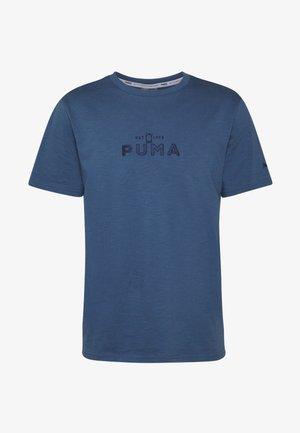 HOOPS TEE - Camiseta estampada - dark blue