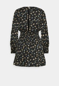 Missguided Petite - FLORAL SHIRRED WAIST MINI DRESS - Day dress - black - 6