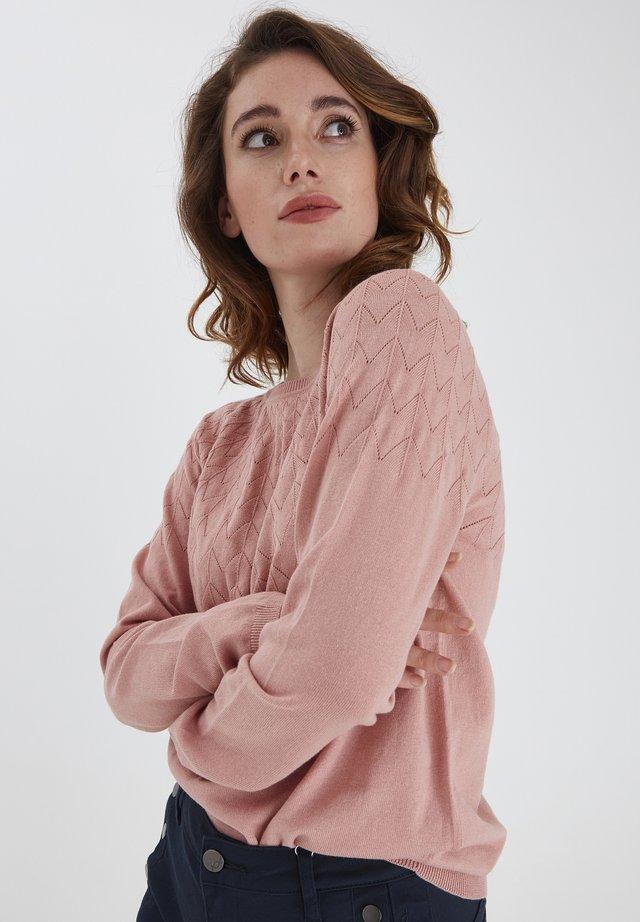 FRPEGANIC  - Sweter - misty rose