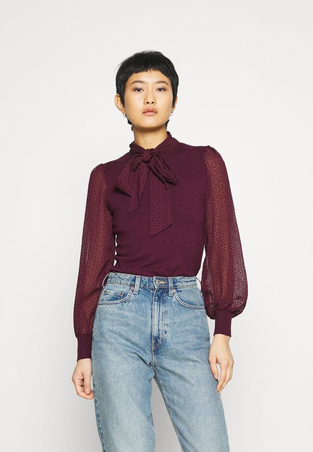 BOW - Blouse - burgundy
