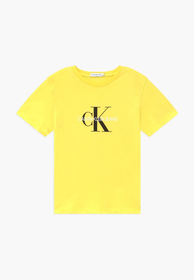 Calvin Klein Jeans - MONOGRAM LOGO UNISEX - Print T-shirt - yellow