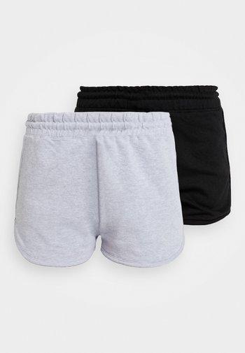 RUNNER 2 PACK - Tracksuit bottoms - black/grey