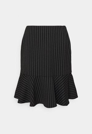 PINSTRIPE  - Mini skirt - black/mascar