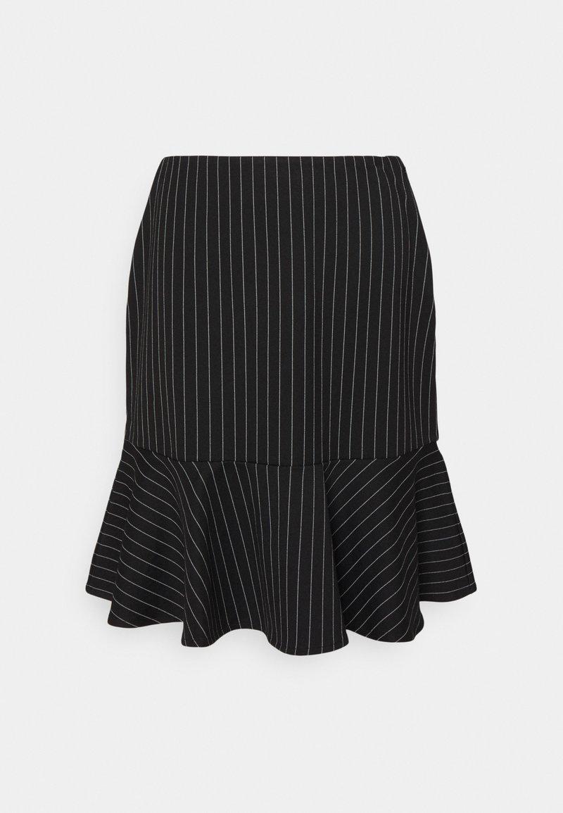 Lauren Ralph Lauren - PINSTRIPE  - Mini skirt - black/mascar