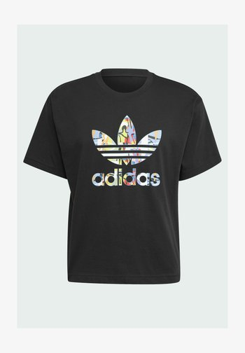 LOVE UNITES TREFOIL - T-shirt con stampa - black